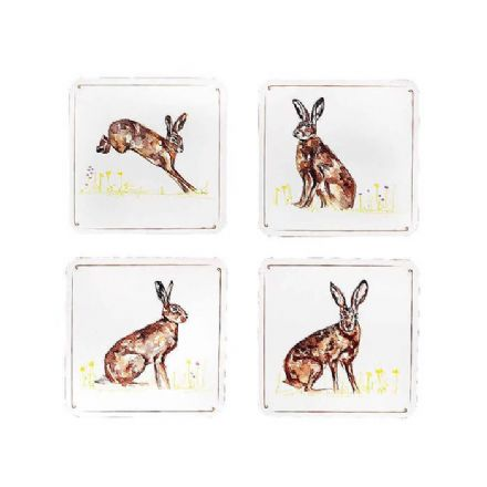 Country Life Hares Coaster Set of 4